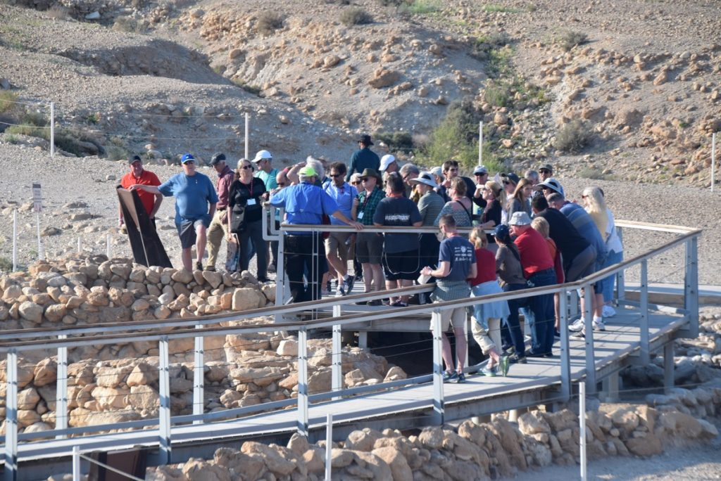 February 2019 Israel Tour Group with John Delancey, Qumran