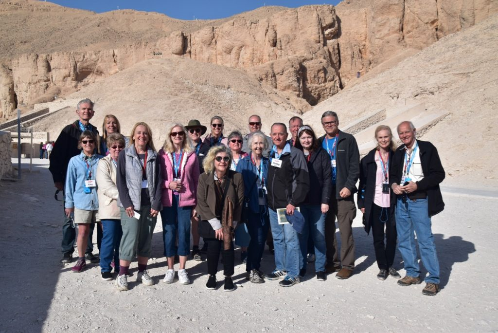 February 2019 Israel Tour Group with John Delancey, Valley of the Kings