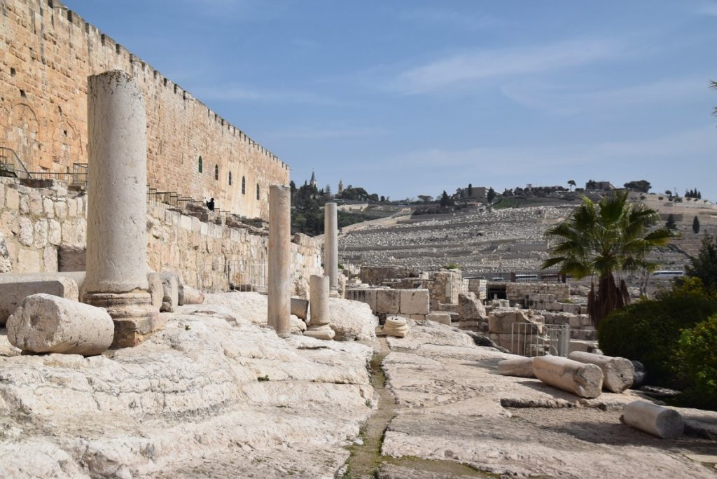 South wall excavations February 2019 Israel Tour with John DeLancey