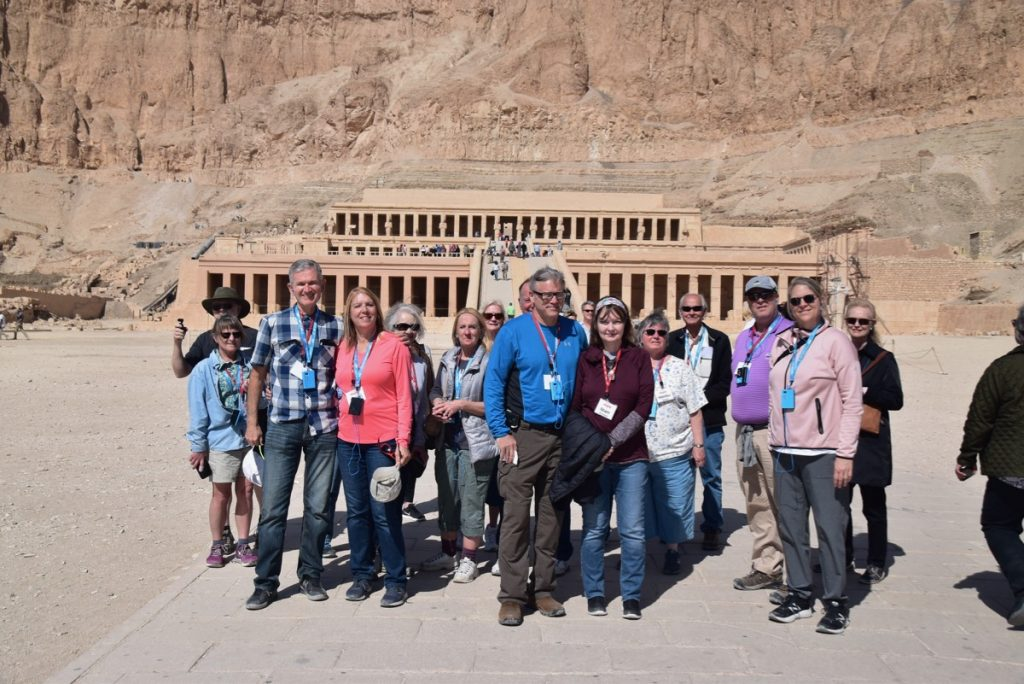 February 2019 Israel Tour Group with John Delancey, Hatshepsut Temple