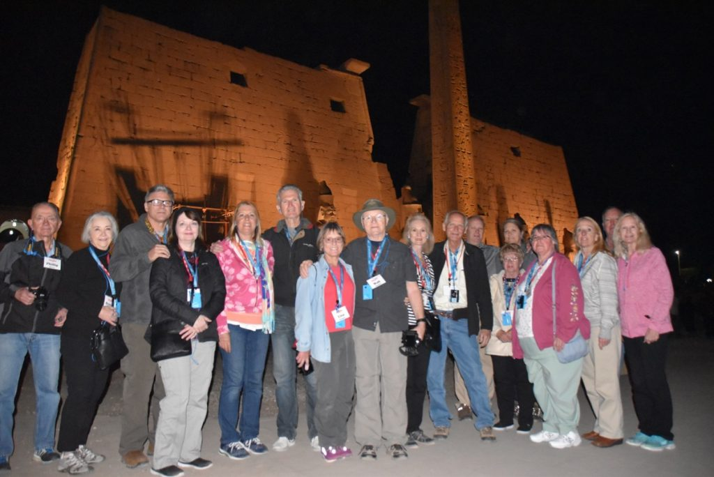 February 2019 Israel Tour Group with John Delancey, Luxor Temple