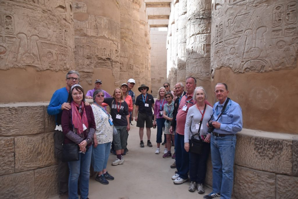 February 2019 Israel Tour Group with John Delancey, Karnak Temple