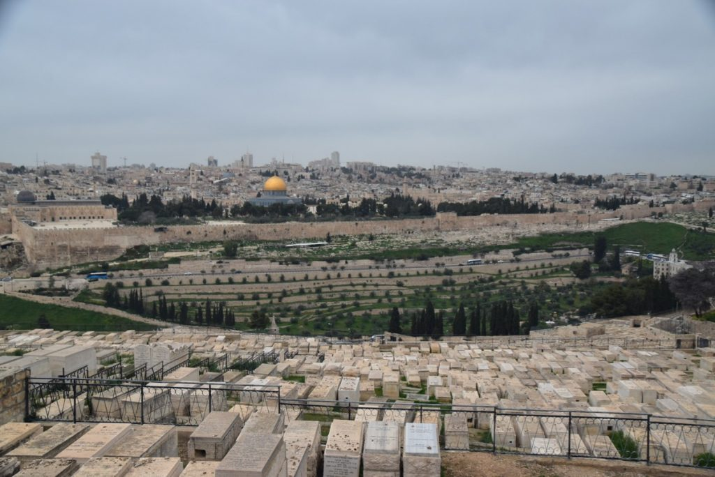 Jerusalem Mt. of Olives March 2019 Israel Tour with John DeLancey