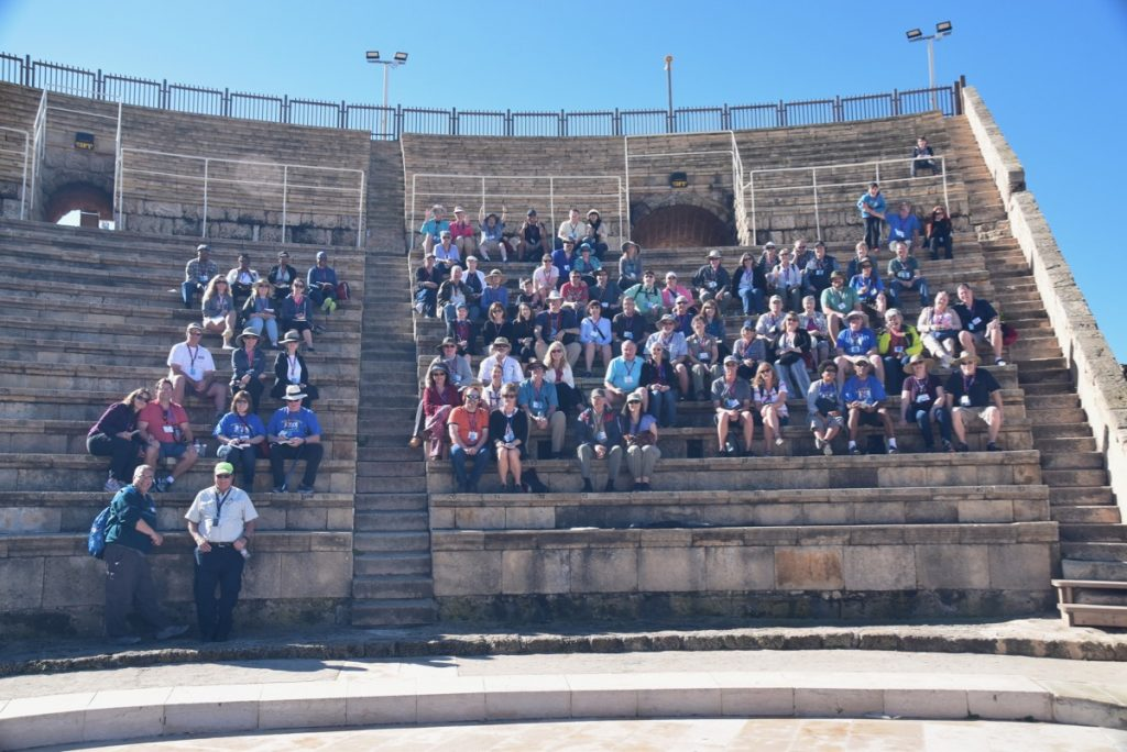 Caesarea John Delancey Tour Group - March 2019 Israel Tour