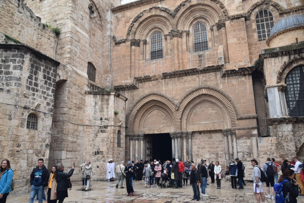 Jerusalem Holy Sepulcher March 2019 Israel Tour with John DeLancey