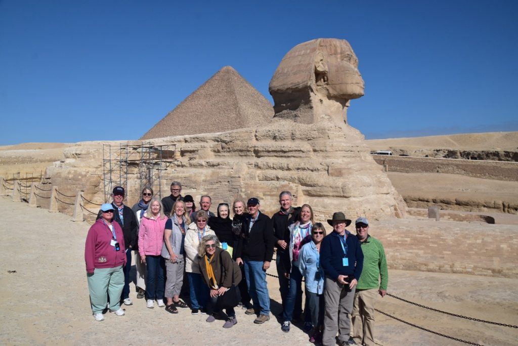 February 2019 Israel Tour Group with John Delancey, Sphinx