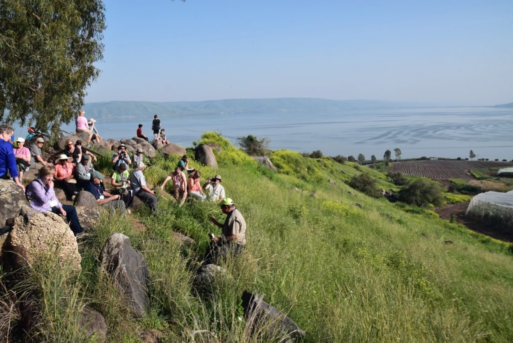 Mt. of Beatitudes March 2019 Israel Tour with John DeLancey