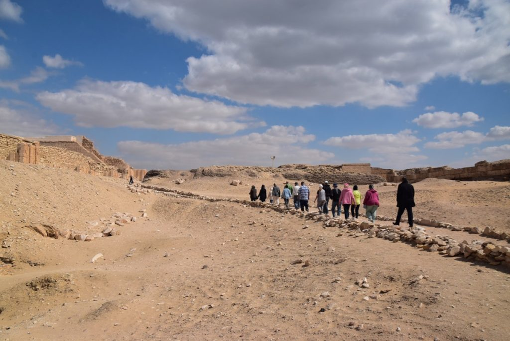 February 2019 Israel Tour Group with John Delancey, Sakkara