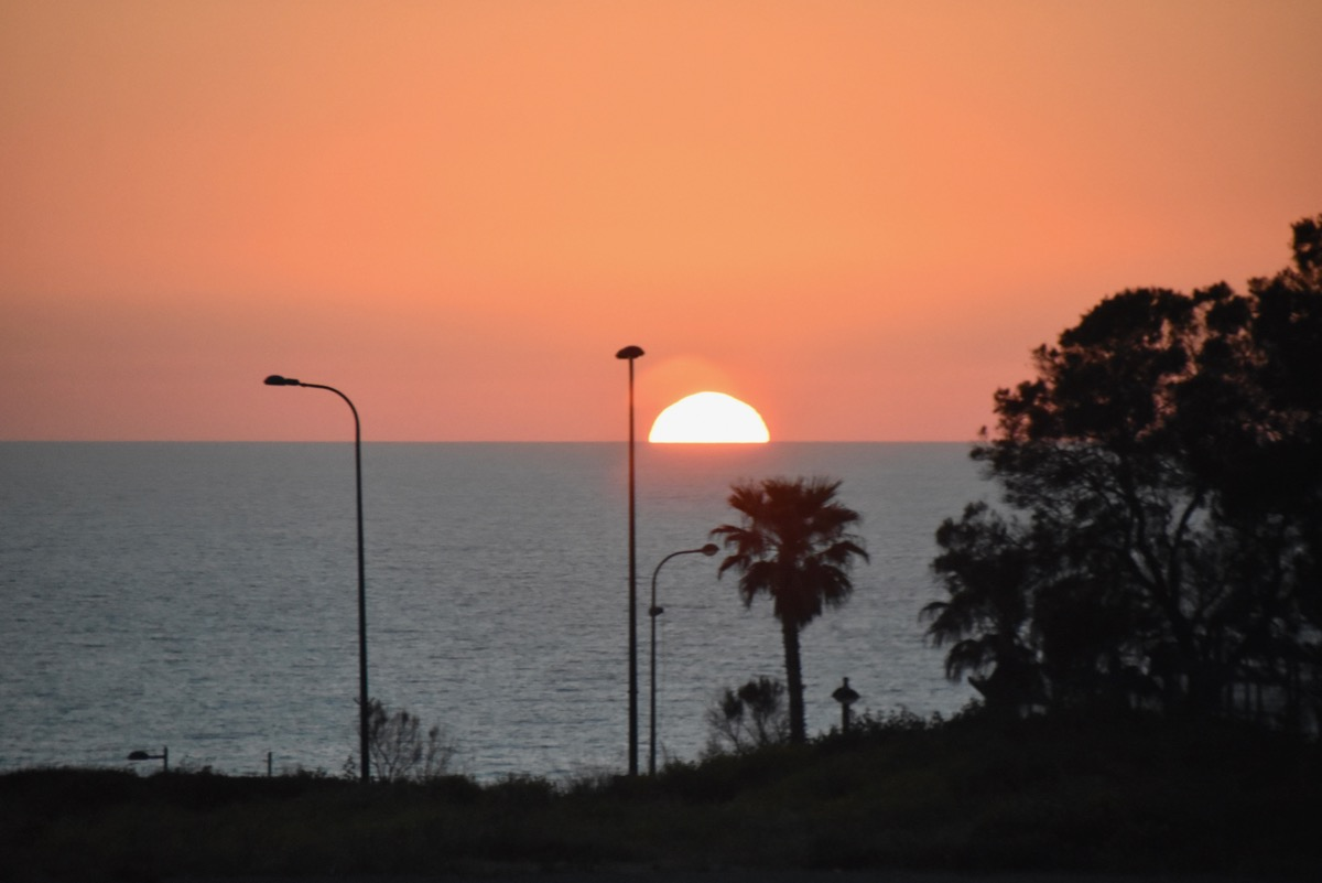 Sunset on the Med Sea in Israel
