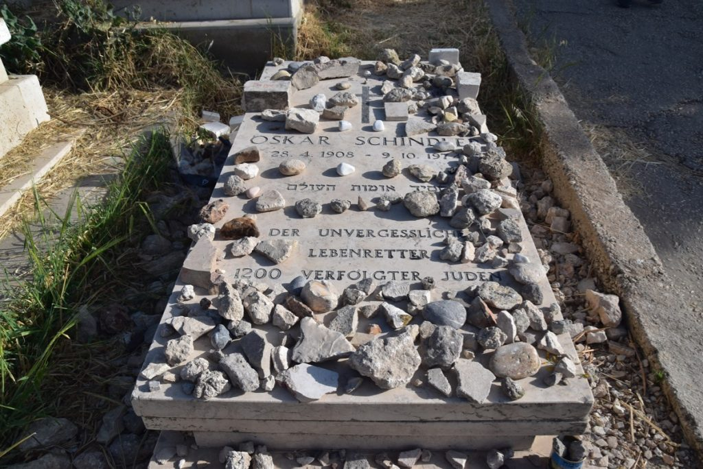 Oscar Schindler grave May 2019 Israel Tour with John DeLancey