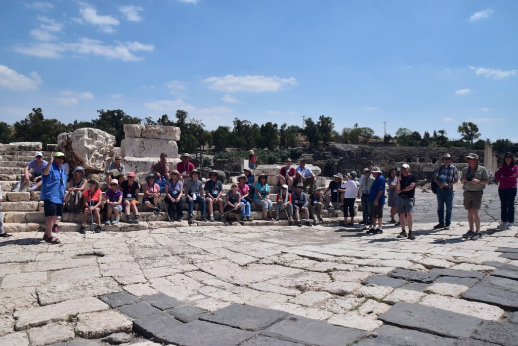 Beth Shean May 2019 Israel Tour Group with John DeLancey
