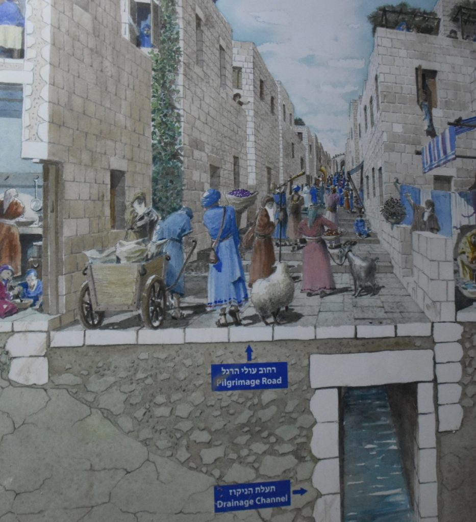 Drainage channel Jerusalem May 2019 Israel Tour with John DeLancey