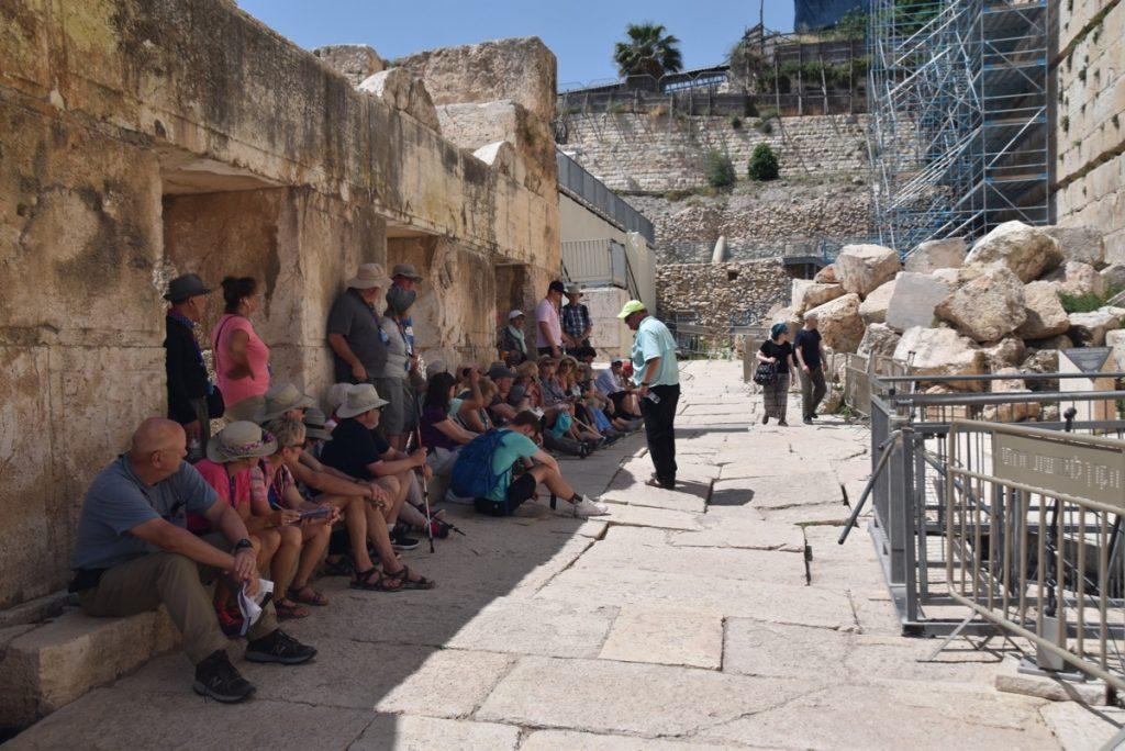 Herodian street Jerusalem May 2019 Israel Tour Group with John DeLancey