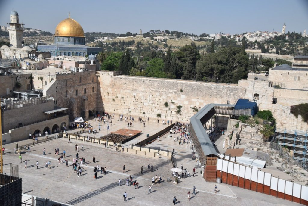 Western Wall Temple Mount Jerusalem May 2019 Israel Tour with John DeLancey