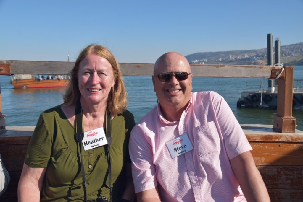 May 2019 Israel Tour Group Sea of Galilee with John DeLancey