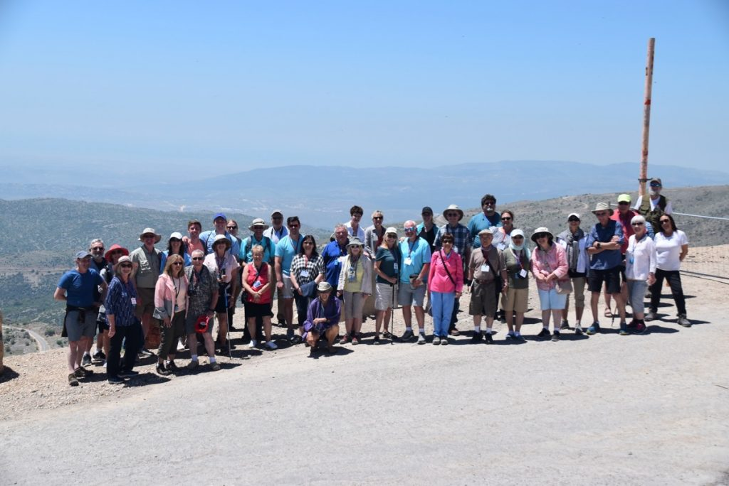 Mt. Hermon May 2019 Israel Tour Group with John DeLancey