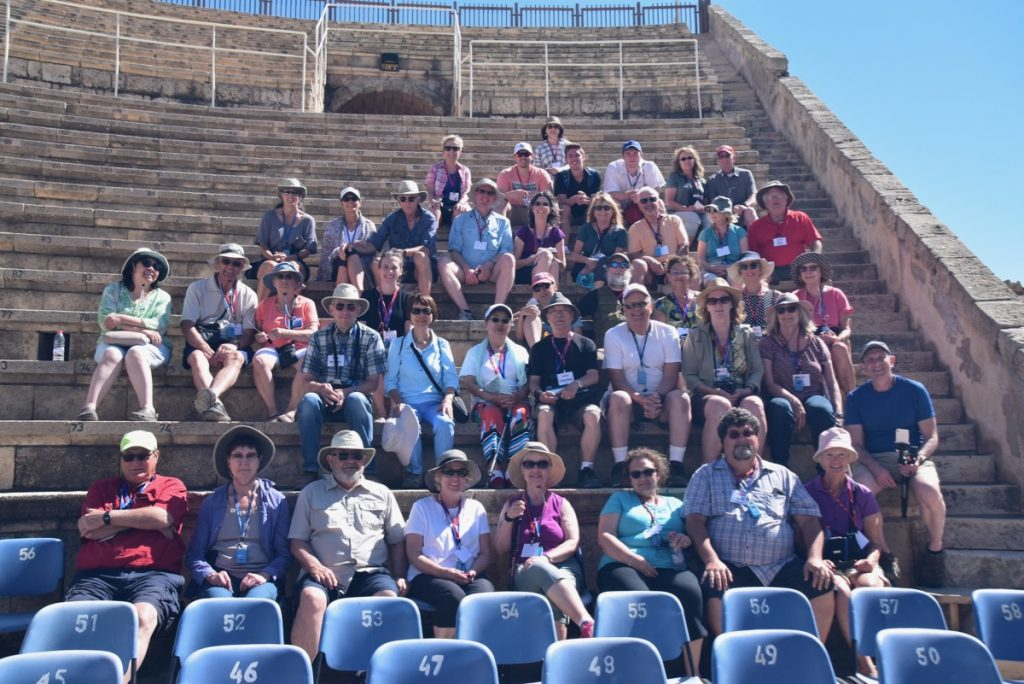 Caesarea May 2019 Israel Tour Group with John DeLancey