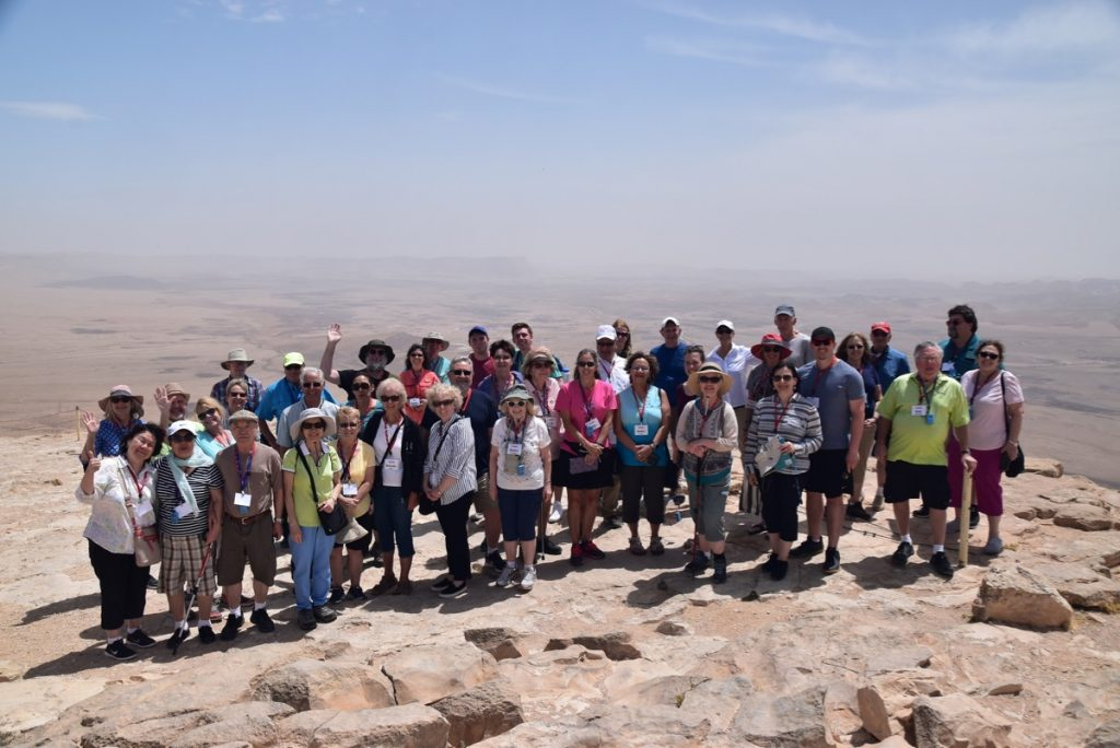 Machtesh Ramon May 2019 Israel Tour Group with John DeLancey