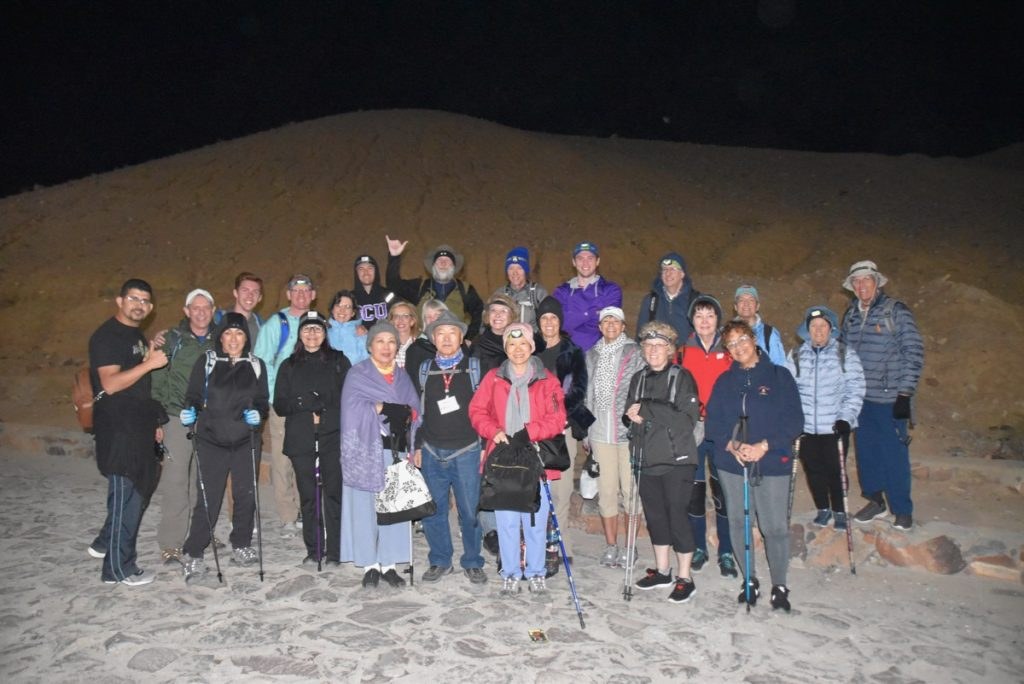 Mt. Sinai May 2019 Israel Tour Group with John DeLancey