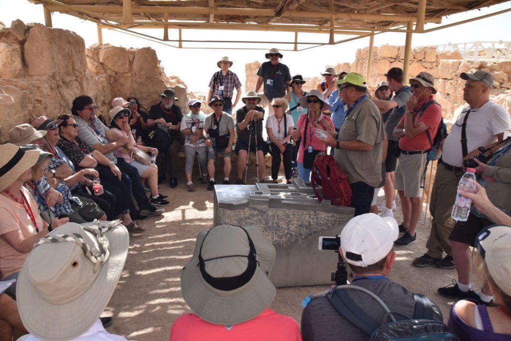 Masada May 2019 Israel Tour Group with John DeLancey