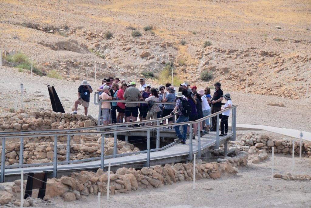 Qumran May 2019 Israel Tour Group with John DeLancey