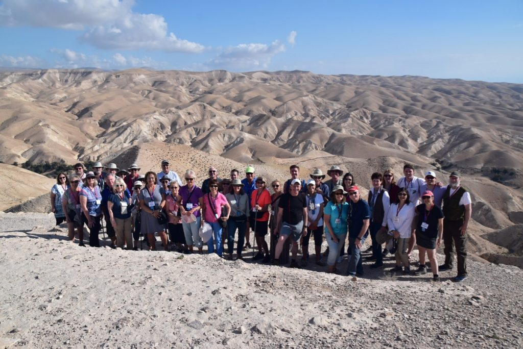 Wadi Qelt May 2019 Israel Tour Group with John DeLancey