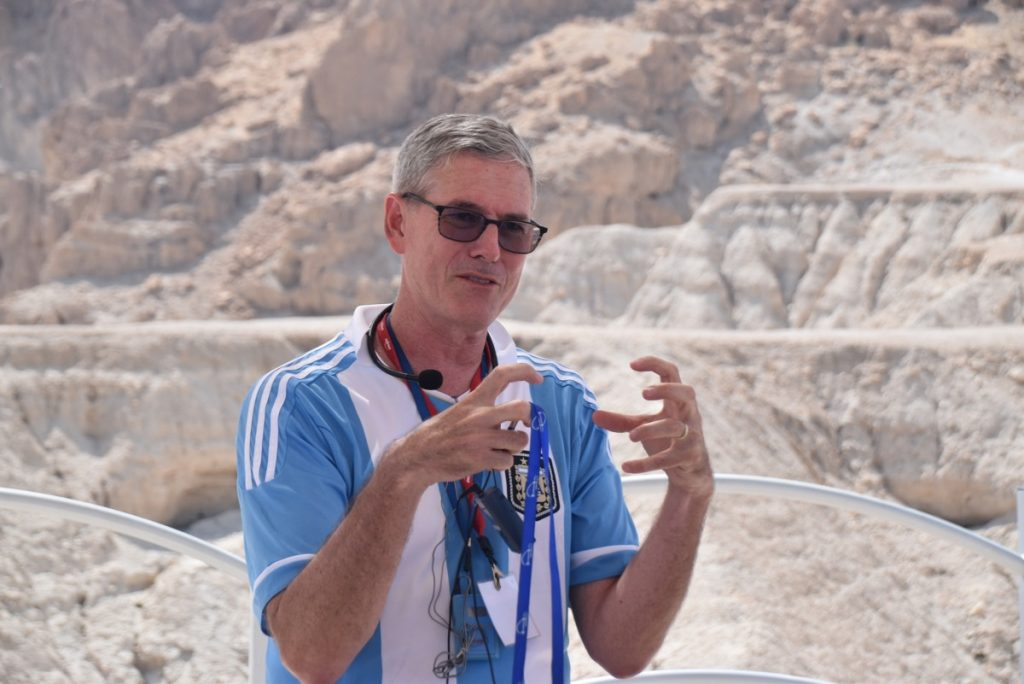 Qumran June 2019 Israel Tour Group with John DeLancey