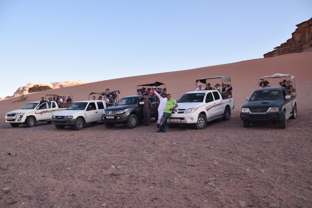 Wadi Rum June 2019 Israel Tour Group with John DeLancey