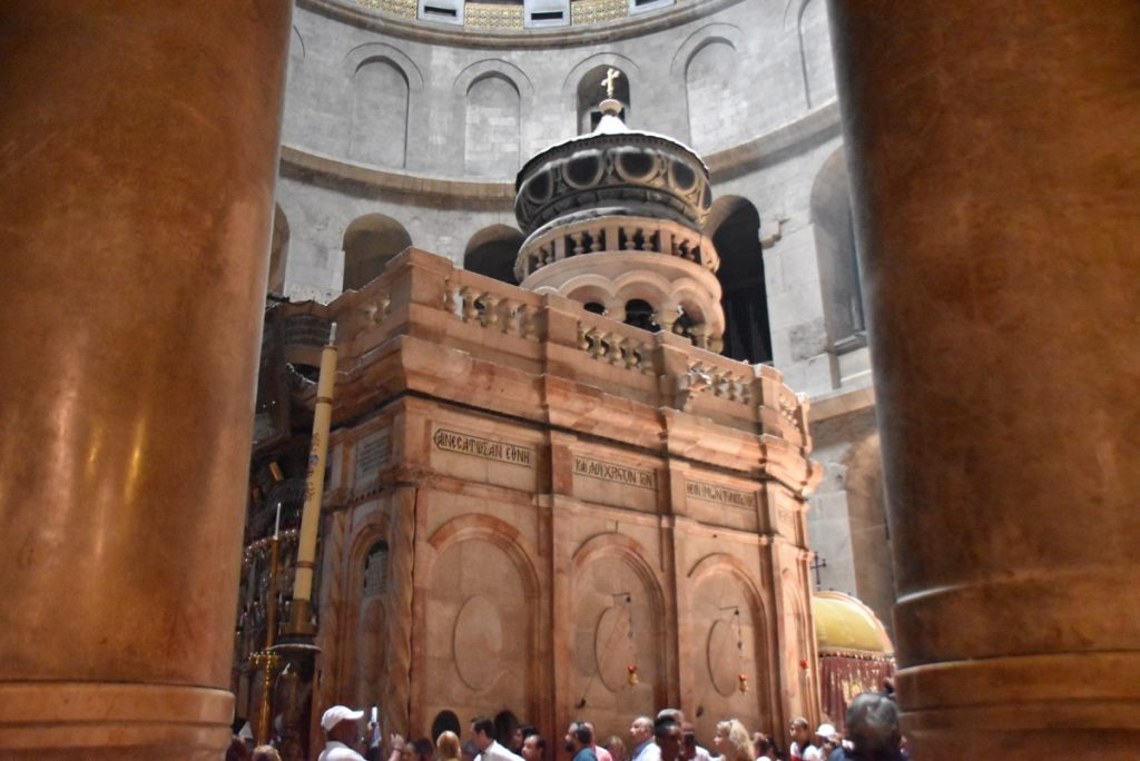 Jerusalem Edicule June 2019 Israel Tour Group with John DeLancey