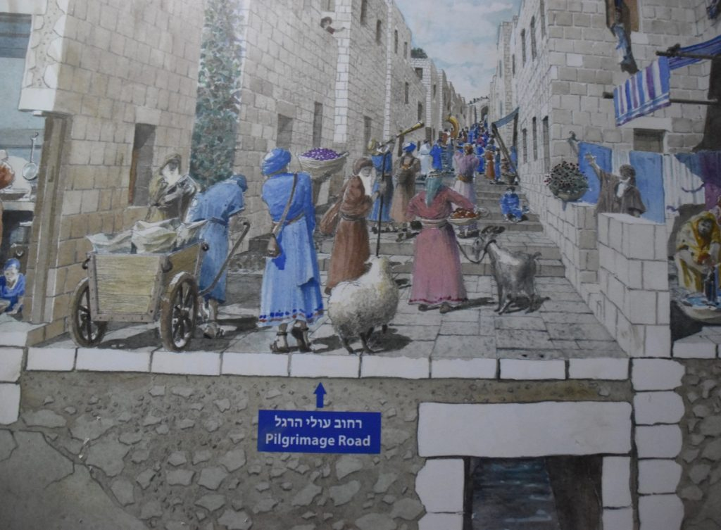 City of David Drainage channel June 2019 Israel Tour with John DeLancey
