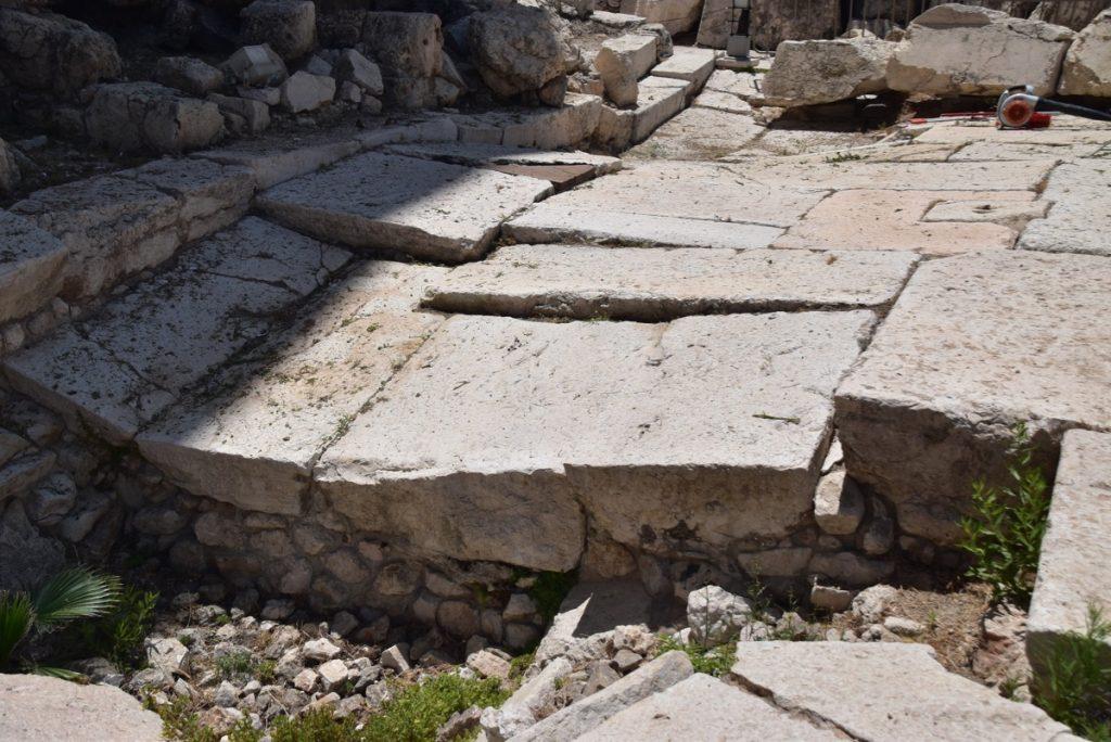 Jerusalem herodian pavement June 2019 Israel Tour with John DeLancey