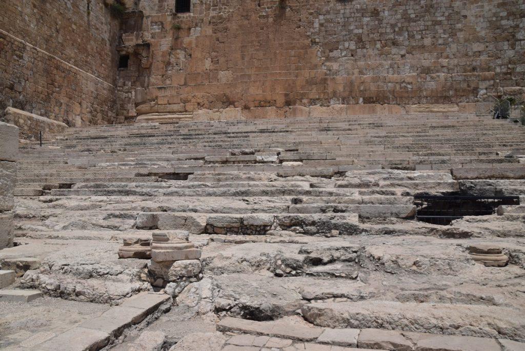 Jerusalem Temple steps June 2019 Israel Tour with John DeLancey