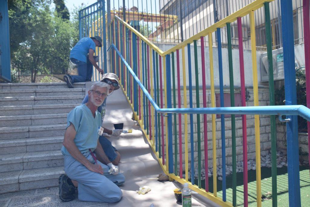 Jerusalem Talpiot school Bridges for Peace June 2019 Israel Tour Group with John DeLancey