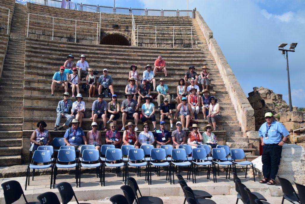Caesarea June 2019 Israel Tour Group with John DeLancey