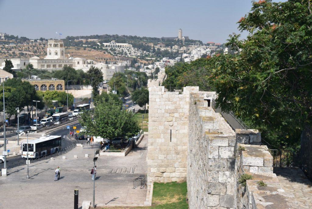 Rampart Walls Jerusalem June 2019 Israel Tour Group with John DeLancey