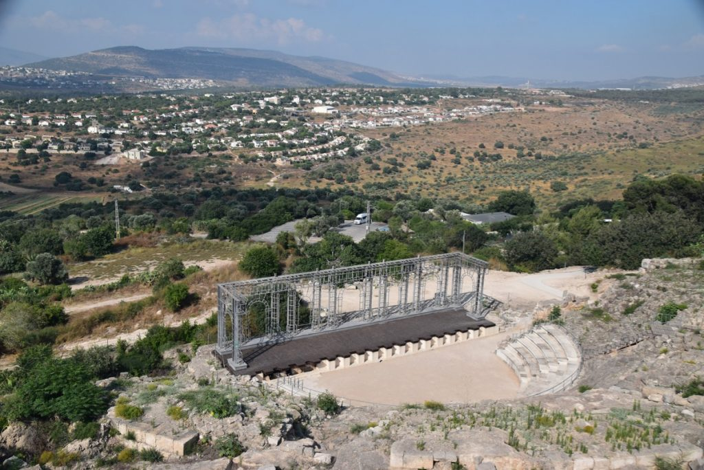 Roman theater Sepphoris June 2019 Israel Tour with John DeLancey