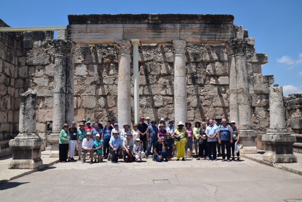 Capernaum June 2019 Israel Tour Group with John DeLancey