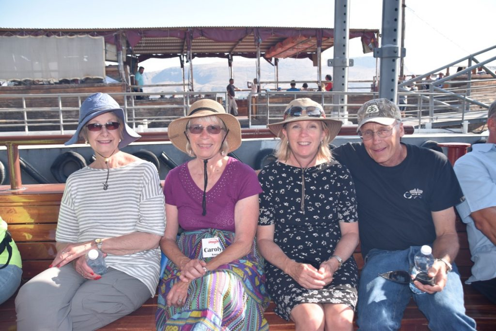 Sea of Galilee Boat Ride June 2019 Israel Tour Group with John DeLancey