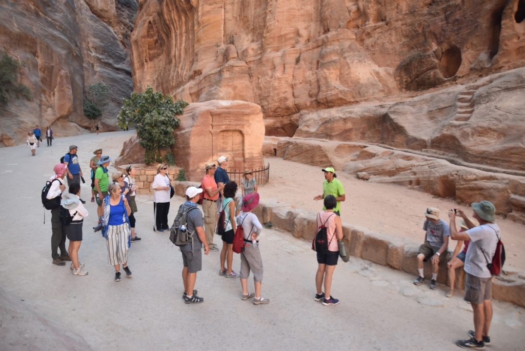 Petra June 2019 Israel Tour Group with John DeLancey