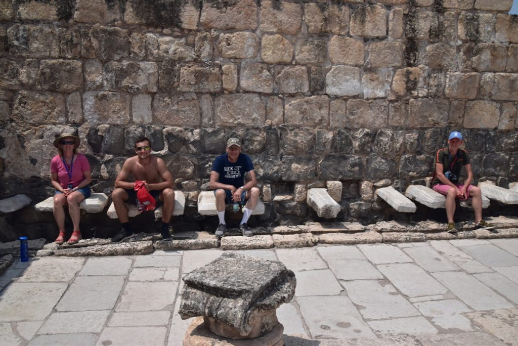 Beth Shean June 2019 Israel Tour Group with John DeLancey