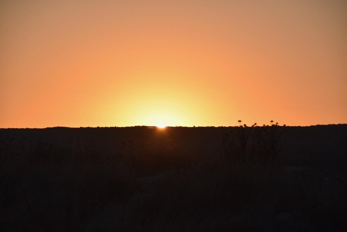 sunrise at Tel Burna