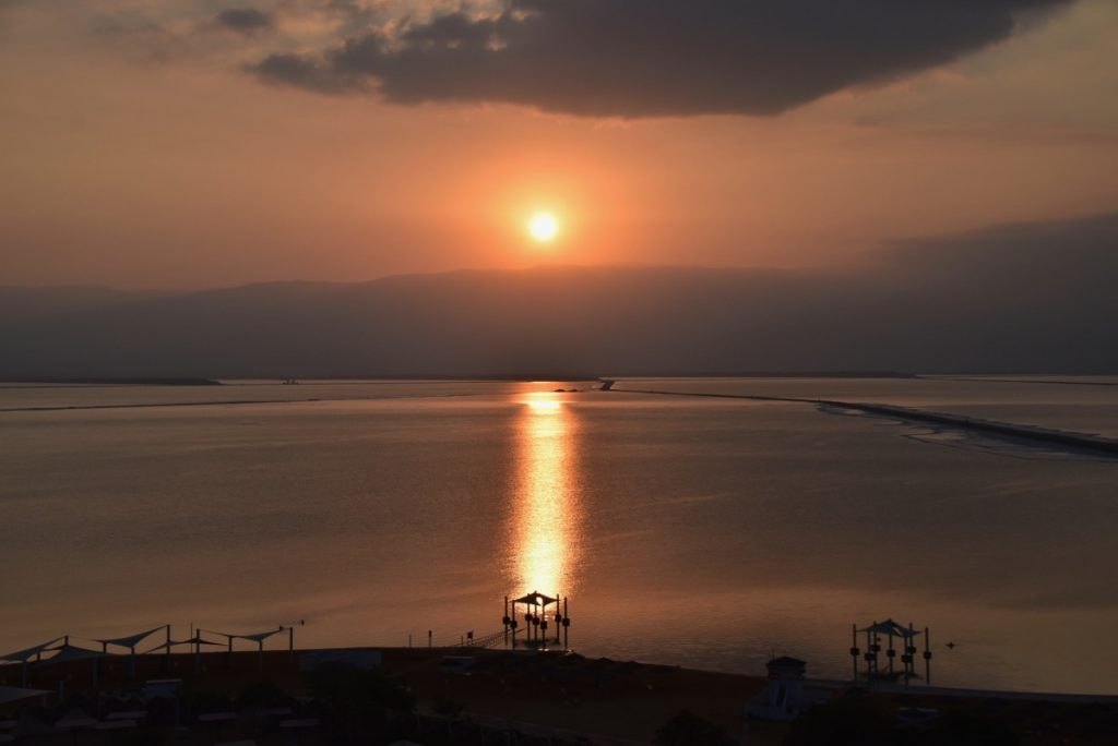 Dead Sea Sunrise Sept 2019 Israel Tour with John DeLancey