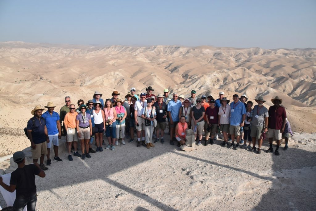 Wadi Qelt Sept 2019 Israel Tour Group, with John DeLancey