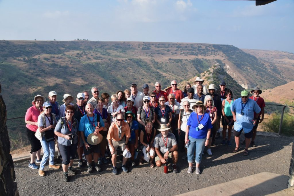 Gamla Sept 2019 Israel Tour Group, with John DeLancey