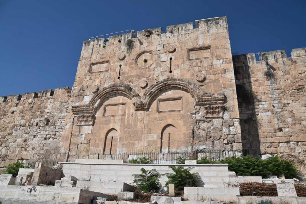 Eastern Gate Jerusalem Sept 2019 Biblical Israel Tour with John DeLancey