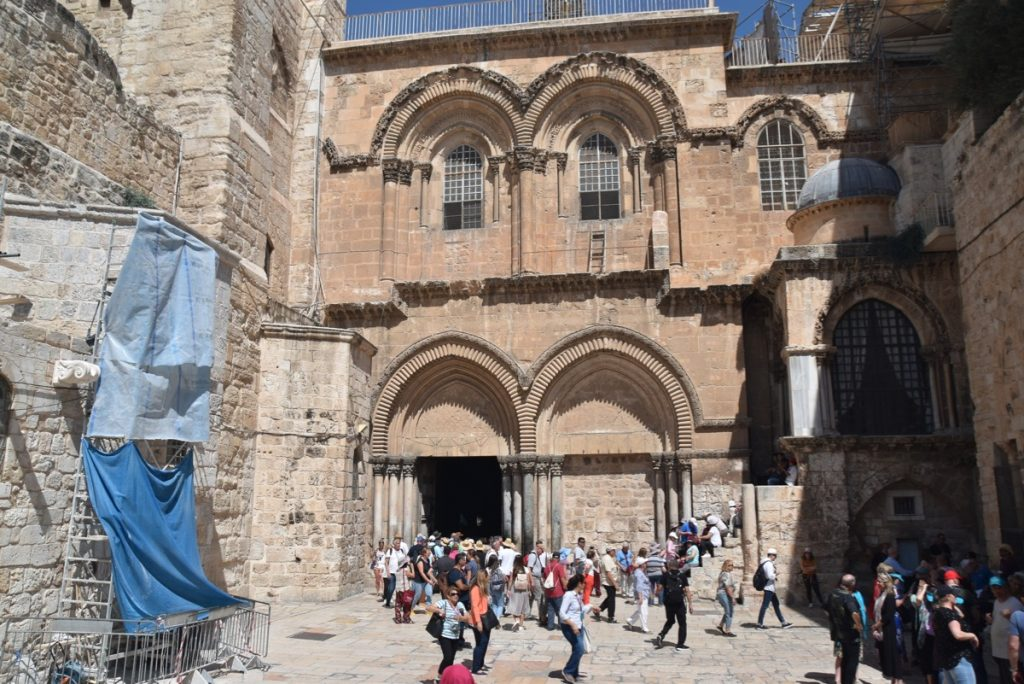 Jerusalem Holy Sepulcher Sept 2019 Biblical Israel Tour with John DeLancey