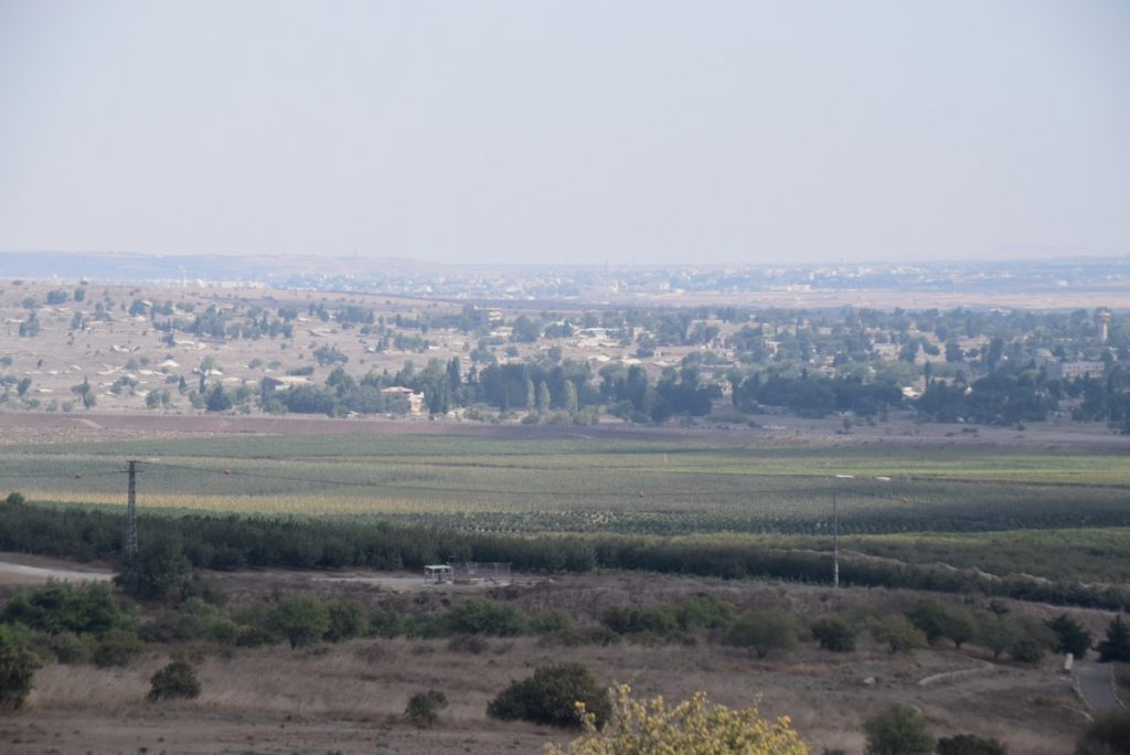Syria border Sept 2019 Biblical Israel Tour with John DeLancey