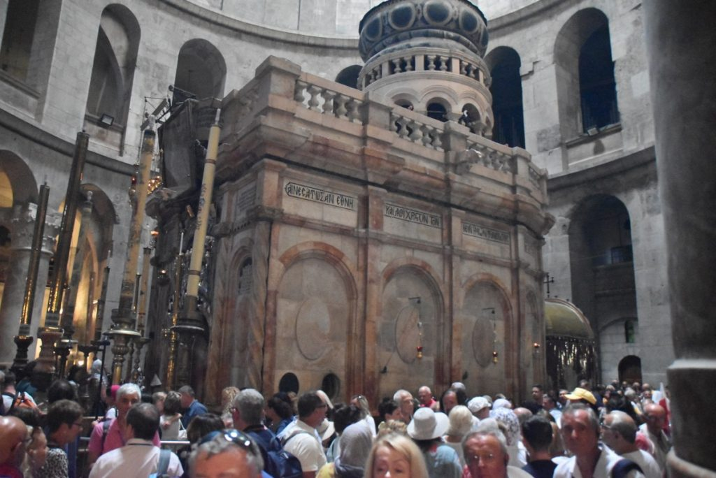 Jerusalem Old City Holy Sepulcher Sept 2019 Biblical Israel Tour with John DeLancey