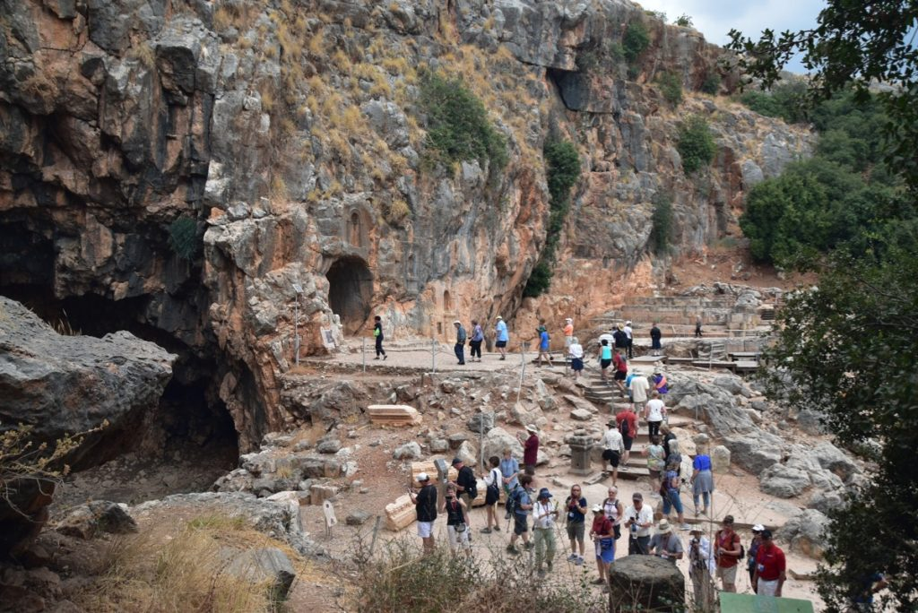Caesarea Philippi Sept 2019 Biblical Israel Tour with John DeLancey