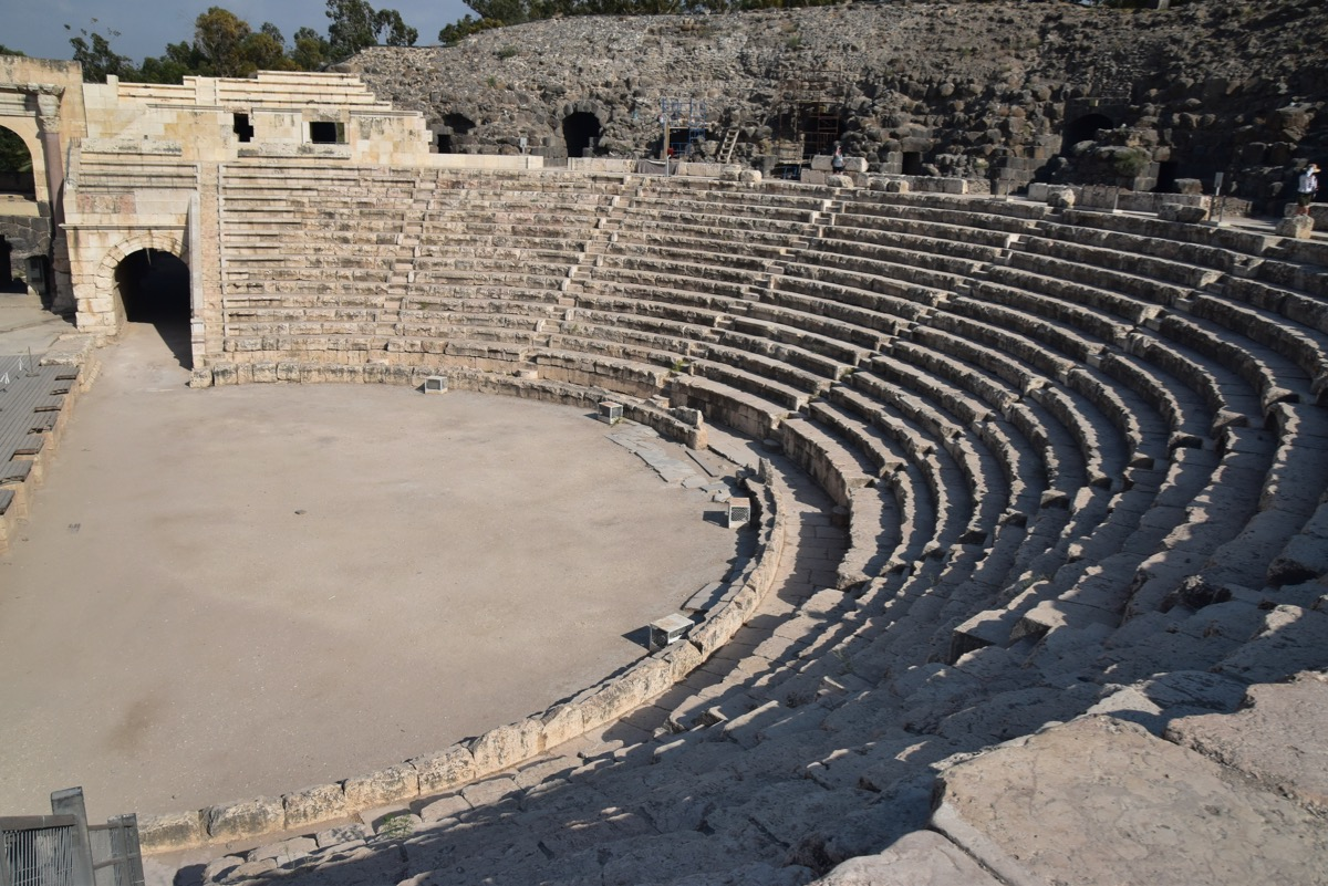 Roman theater, Beth Shean, Israel